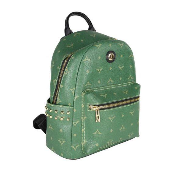 backpack green la tour eiffel