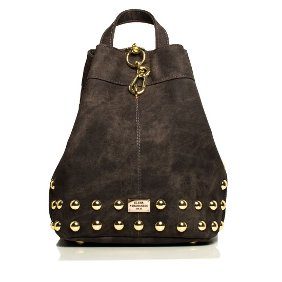 backpack grey gold