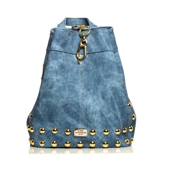 backpack jean pattern blue-gold