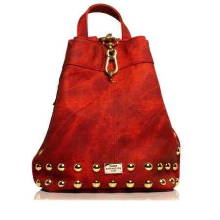 backpack jean pattern red-gold
