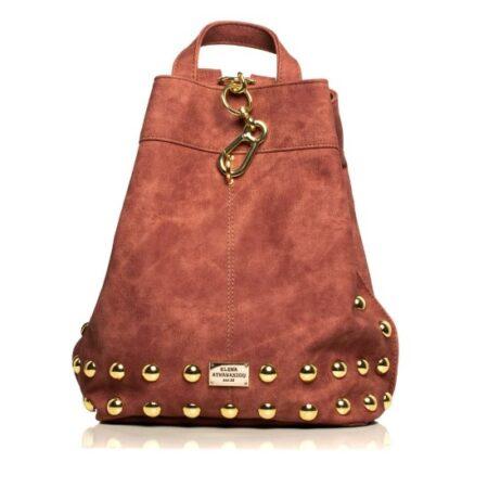backpack pink gold