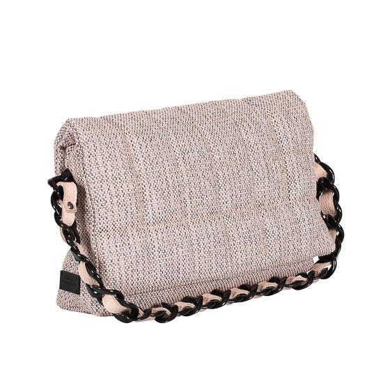 baby pink linen pillow