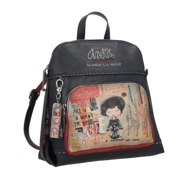backpack anekke blue-red